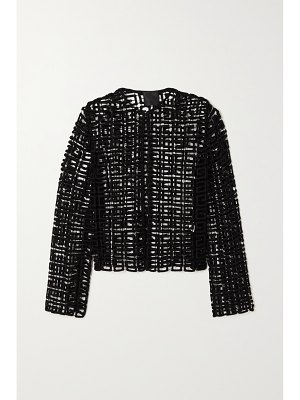 Givenchy wool-blend guipure lace jacket