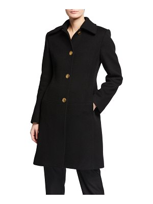 Givenchy Wool-Cashmere Coat w/ Chain Martingale