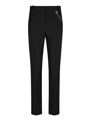 Givenchy Wool Cigarette Trousers w/ Chain Detail