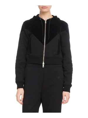Givenchy Zip-Front Quilted Crop Cotton Track Jacket