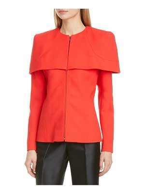 Givenchy zip front wool crepe cape jacket