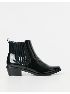 Glamorous clean chelsea boots in black
