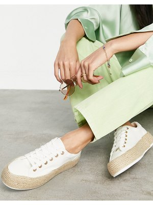 Glamorous espadrille sneakers in white canvas