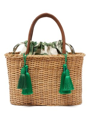 Glorinha Paranagua palermo woven wicker basket bag