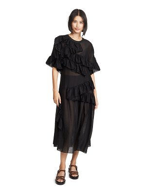 GOEN.J asymmetric chiffon dress