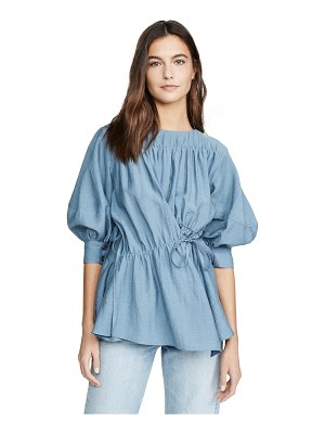 GOEN.J ruched paneled balloon sleeve top