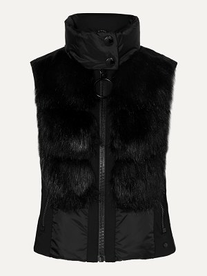 Goldbergh adda faux fur-paneled quilted down vest