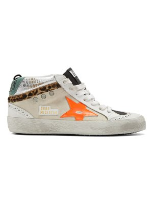 Golden Goose and black mid star sneakers