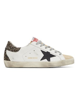 Golden Goose and gold glitter super-star sneakers