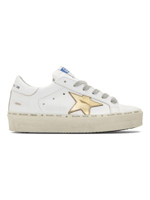 Golden Goose and gold hi star sneakers