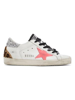 Golden Goose and pink super-star sneakers