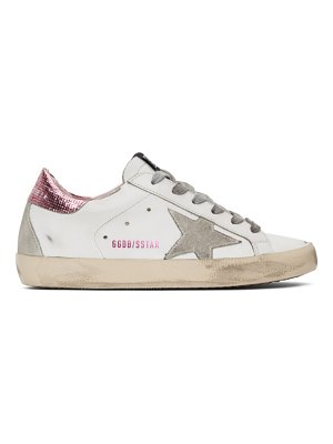 Golden Goose and pink superstar sneakers