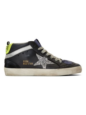 Golden Goose and silver glitter mid star sneakers