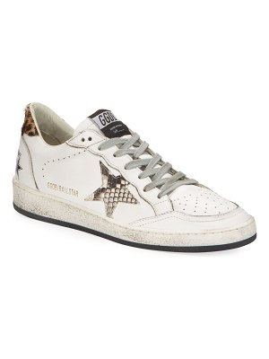 Golden Goose Ball Star Snake-Print Sneakers