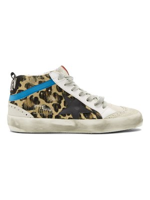 Golden Goose black and brown  pony mid star sneakers