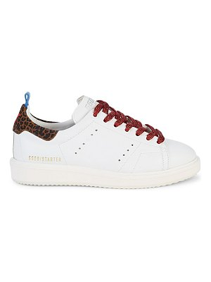 GOLDEN GOOSE DELUXE BRAND Cheetah Patch Leather Sneakers