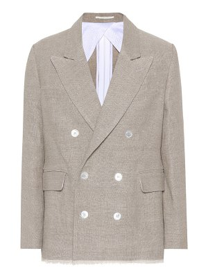GOLDEN GOOSE DELUXE BRAND Double-breasted linen jacket