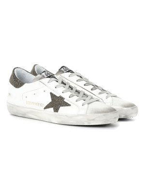 GOLDEN GOOSE DELUXE BRAND Superstar Swarovski embellished leather sneakers