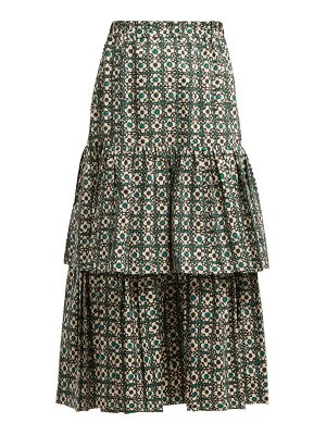 GOLDEN GOOSE DELUXE BRAND Floral Print Gathered Tiered Skirt