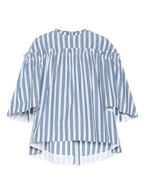 GOLDEN GOOSE DELUXE BRAND Striped cotton and silk top