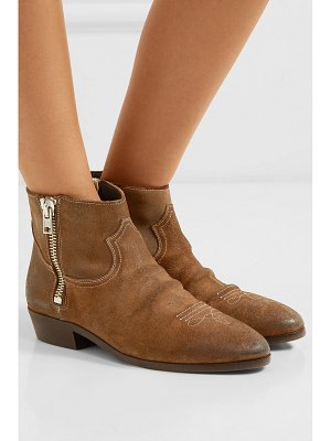 Golden Goose viand embroidered suede ankle boots