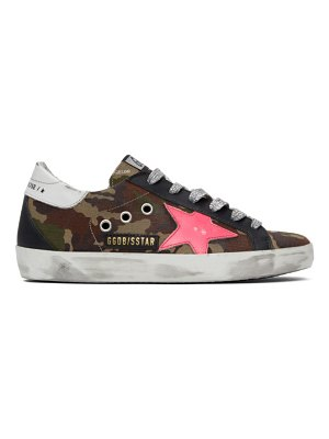 Golden Goose green and pink  superstar sneakers