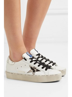 Golden Goose hi star distressed leather platform sneakers