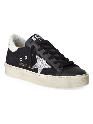 Golden Goose Hi-Star Glitter Low-Top Sneakers