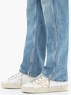 Golden Goose hi star low top leather trainers