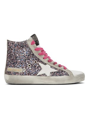 Golden Goose multicolor and  glitter francy sneakers