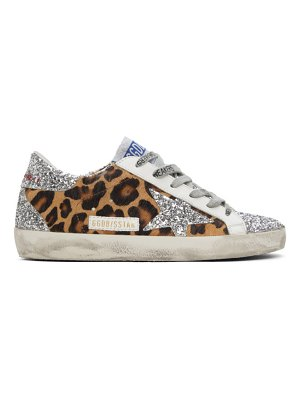 Golden Goose silver  super-star sneakers
