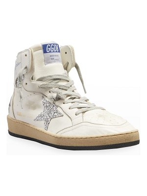 Golden Goose Sky Star Leather High-Top Sneakers