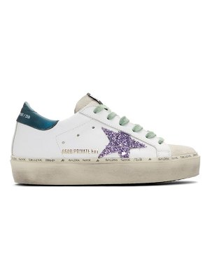 Golden Goose ssense exclusive  and blue limited edition hi star sneakers