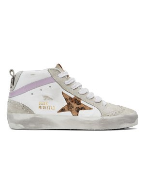 Golden Goose ssense exclusive  and grey mid star sneakers