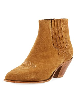 Golden Goose Sunset Suede Cowboy Ankle Boot