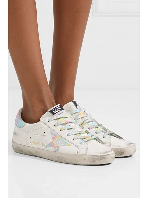 Golden Goose superstar distressed tie-dyed leather sneakers