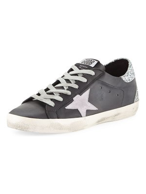 Golden Goose Superstar Leather & Glitter Low-Top Sneakers