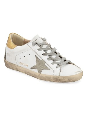 Golden Goose Superstar Leather Sneakers with Metallic Back