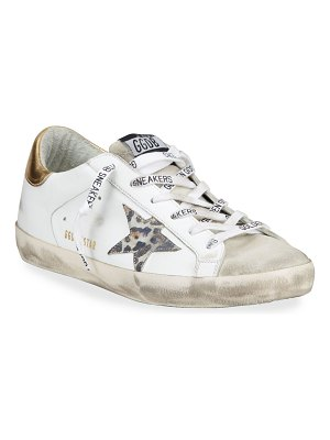 Golden Goose Superstar Leo-Star Leather Low-Top Sneakers