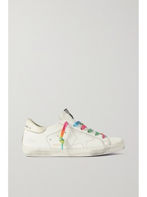 Golden Goose superstar perforated distressed leather sneakers