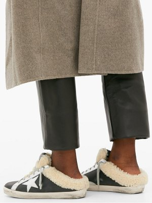 Golden Goose superstar shearling lined leather trainer mules