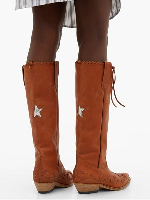 Golden Goose wish star embroidered leather boots