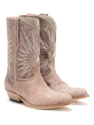 Golden Goose wish star leather cowboy boots