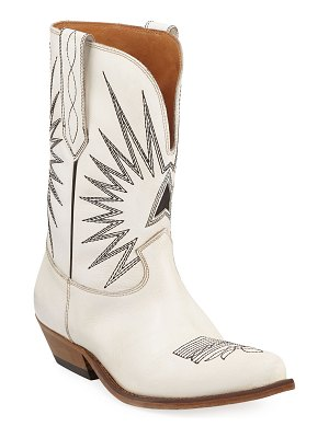 Golden Goose Wish Star Leather Western Boots