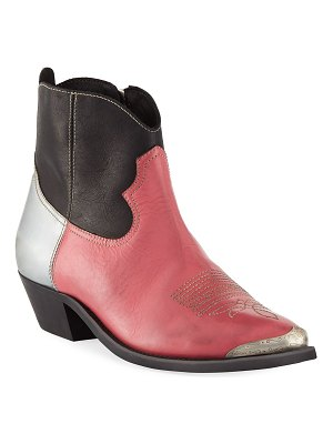 Golden Goose Young Colorblock Leather Ankle Boot