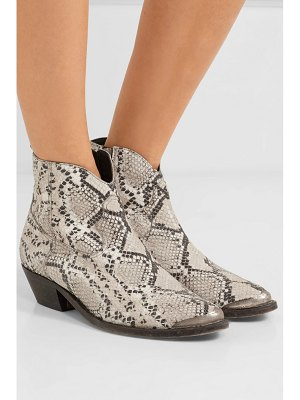 Golden Goose young distressed snake-effect leather ankle boots