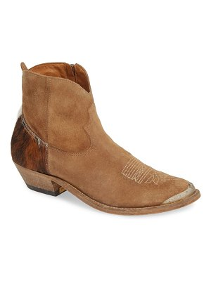Golden Goose young western boot with genuine calf hair