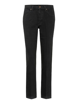 GOLDSIGN benefit mid-rise straight jeans