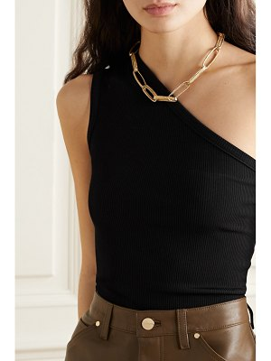 GOLDSIGN net sustain one-shoulder ribbed stretch-jersey tank