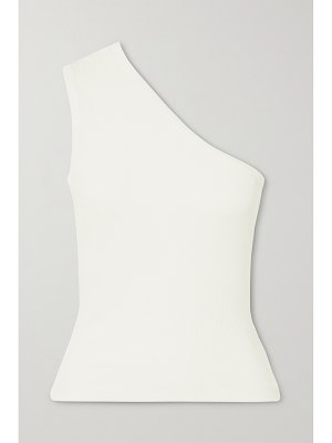 GOLDSIGN + net sustain one-shoulder ribbed stretch-jersey tank